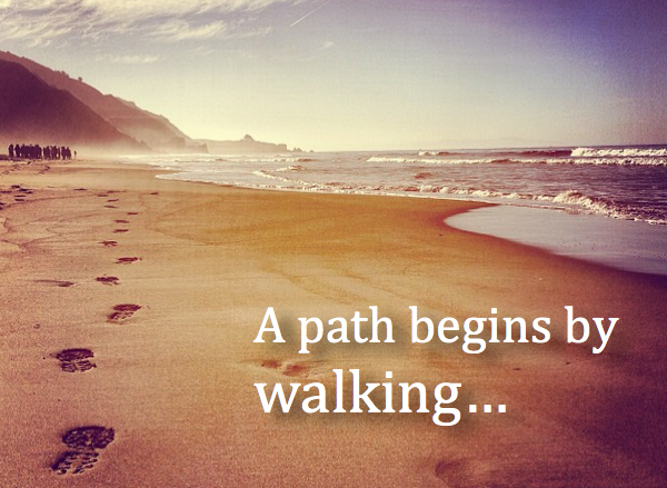 A path begins by walking