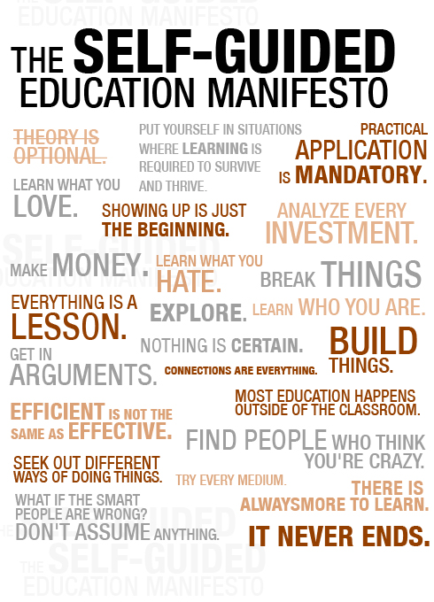 Self guided education manifesto