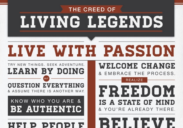 Live Your Legend Creed shortened