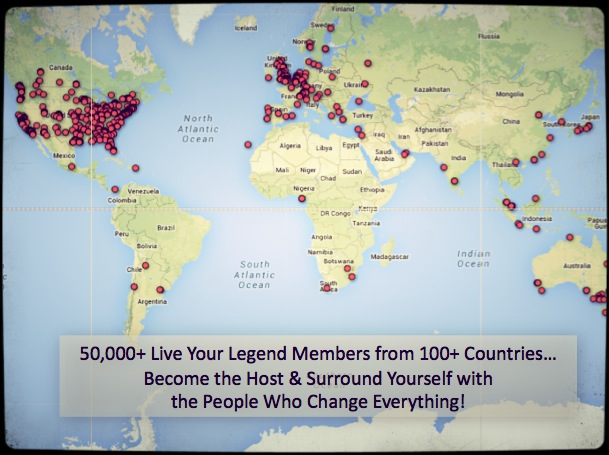 Live Your Legend LOCAL Event Map