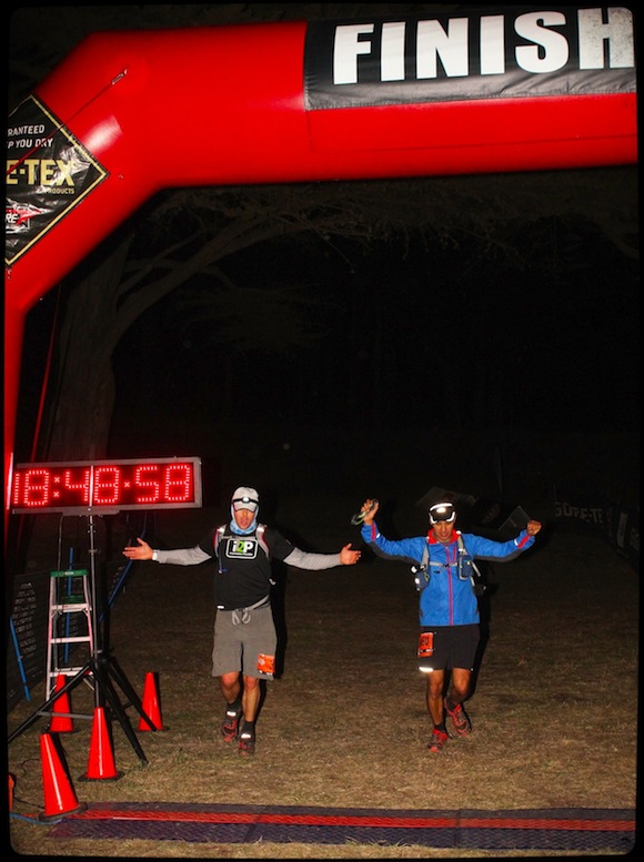 North face 50 mile finish line Scott Dinsmore Leo Babauta