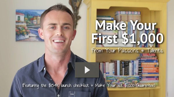 The Make Your First $1000 Guarantee video