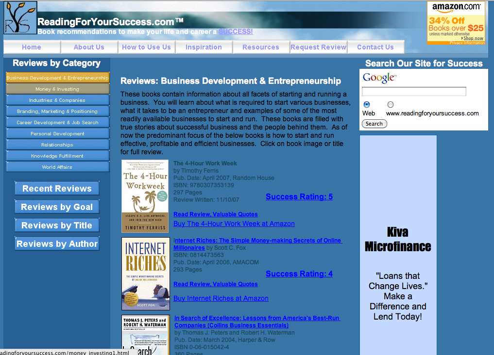 My First Gorgeous Website Reading For Your Success v1