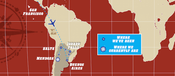 World Map Mendoza