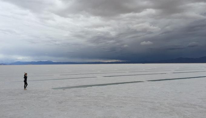 Crazy salt flats