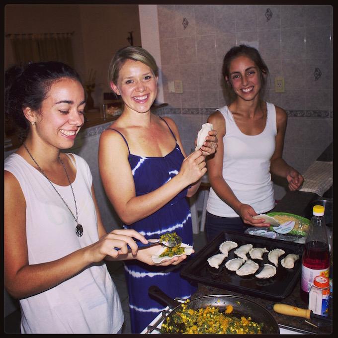 chelsea teaches argentinians empanadas