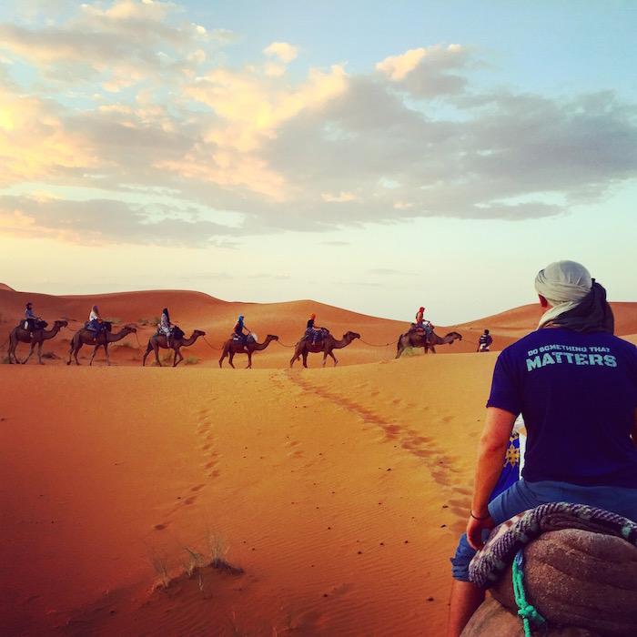 LYL shirt in the Sahara