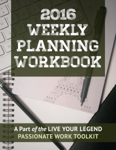 2016 Weekly Planning Workbook: Live Your Legend