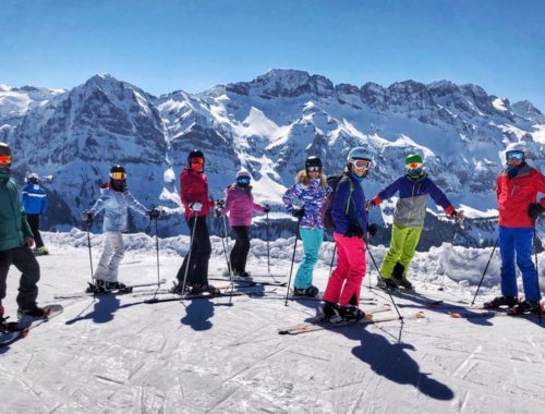 Skiing from France to Switzerland